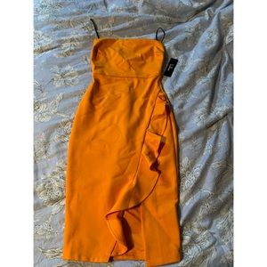 Orange Lulus sleeveless dress NWT
